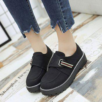 Flat Shoes with Round Head Casual Shoes - BLACK 35