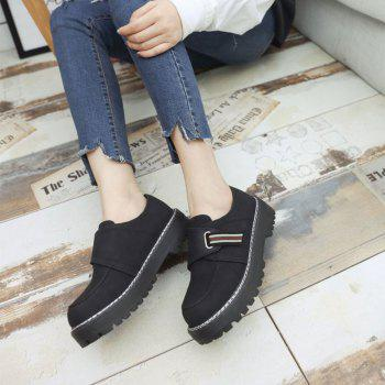 Flat Shoes with Round Head Casual Shoes - BLACK 38