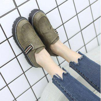 Flat Shoes with Round Head Casual Shoes - GREEN 37