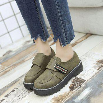 Flat Shoes with Round Head Casual Shoes - GREEN 38