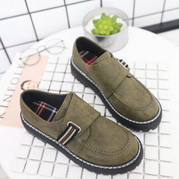 Flat Shoes with Round Head Casual Shoes - GREEN 39