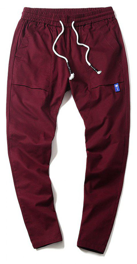 New Youth Leisure Trend Men's Trousers - RED WINE L