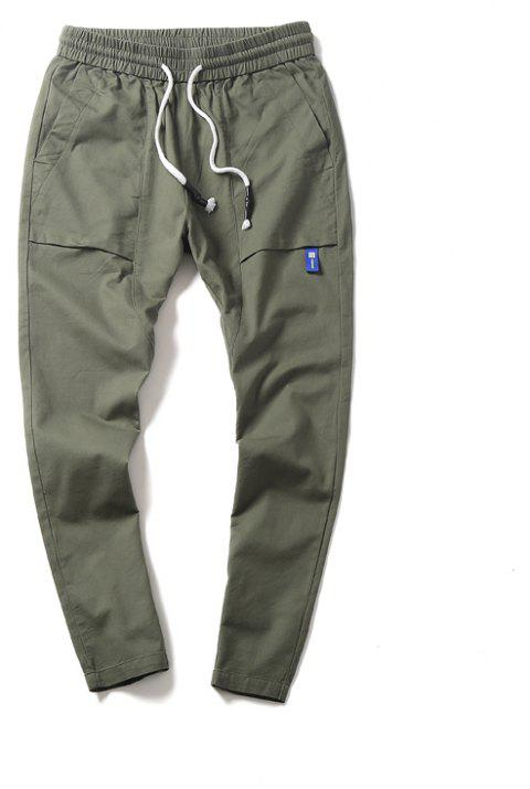 New Youth Leisure Trend Men's Trousers - DARK SEA GREEN M