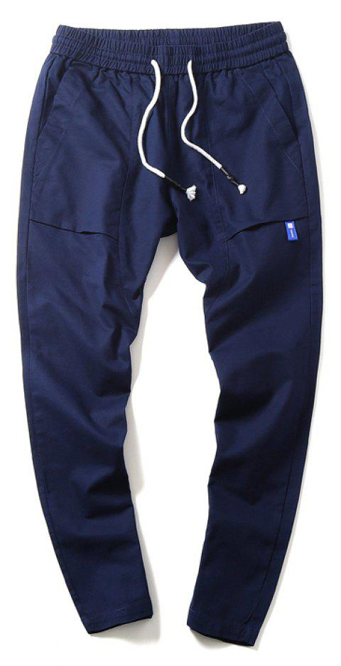 New Youth Leisure Trend Men's Trousers - LIGHT SLATE BLUE XL