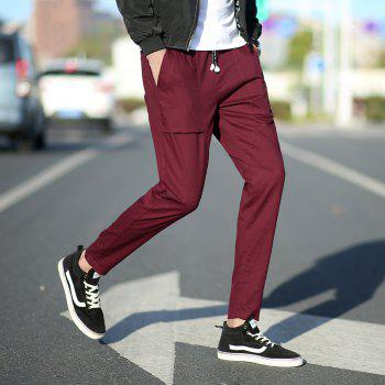 New Youth Leisure Trend Men's Trousers - RED WINE 4XL