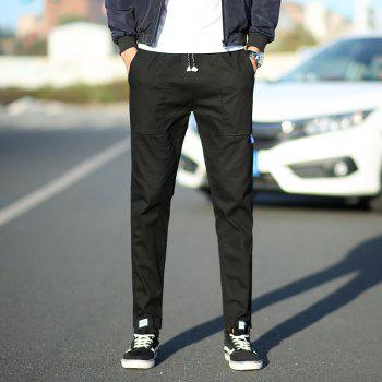 New Youth Leisure Trend Men's Trousers - BLACK 3XL