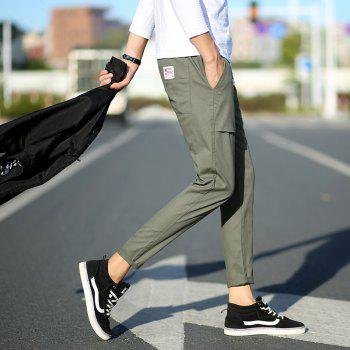New Youth Leisure Trend Men's Trousers - DARK SEA GREEN L