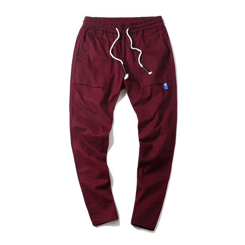 New Youth Leisure Trend Men's Trousers - RED WINE 2XL