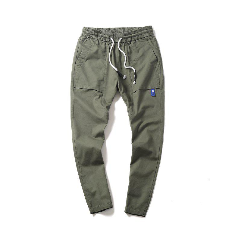 New Youth Leisure Trend Men's Trousers - DARK SEA GREEN XL