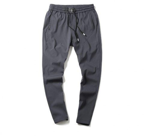 New Youth Leisure Speed Dry Pure Color Men's Trousers - GRAY M