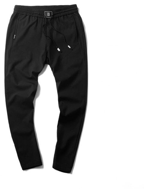 New Youth Leisure Speed Dry Pure Color Men's Trousers - BLACK M