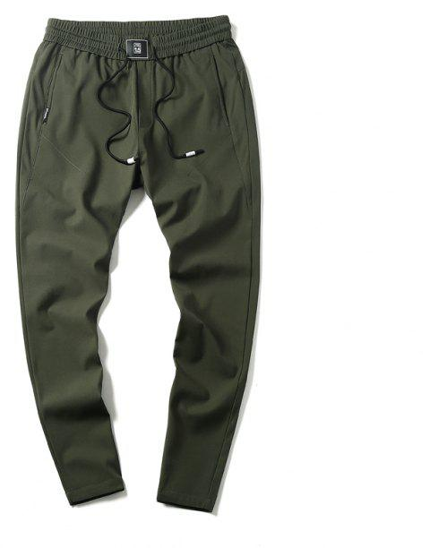 New Youth Leisure Speed Dry Pure Color Men's Trousers - HAZEL GREEN XL