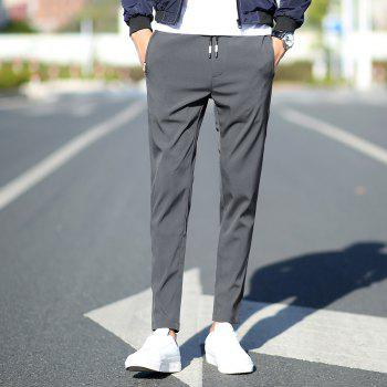 New Youth Leisure Speed Dry Pure Color Men's Trousers - GRAY L