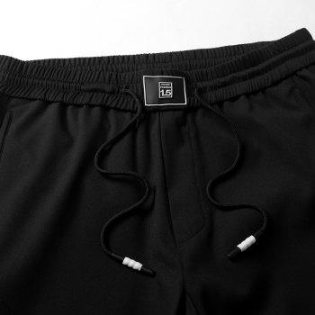 New Youth Leisure Speed Dry Pure Color Men's Trousers - BLACK 2XL