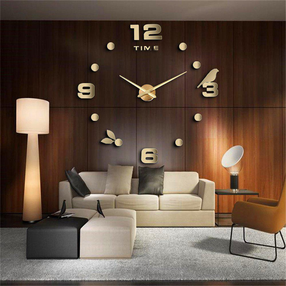 Large Size Creative Silent Wall Clock - GOLD