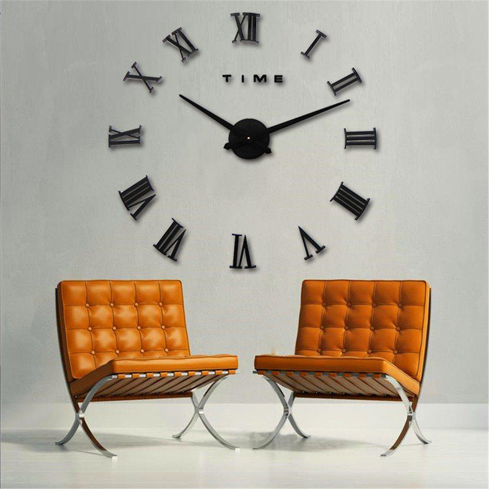 Simple Creative Fashion Wall Clock for Living Room - BLACK