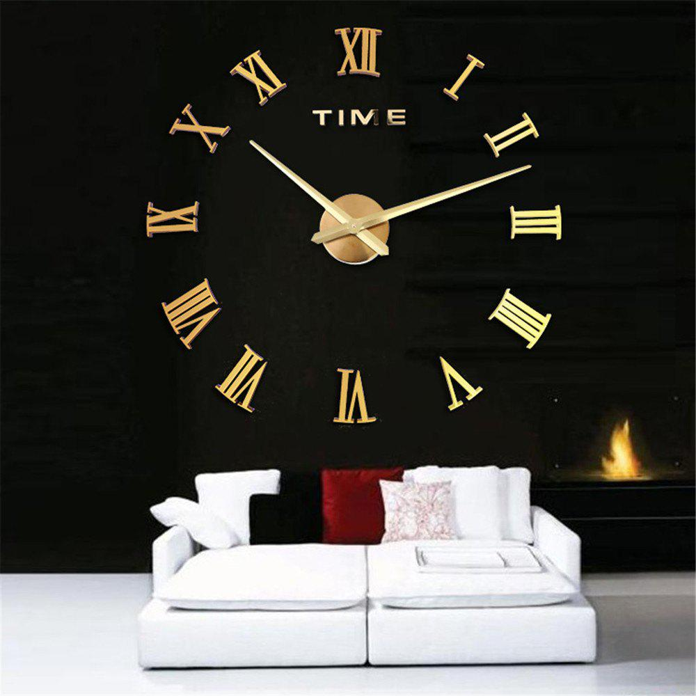 Simple Creative Fashion Wall Clock for Living Room - GOLD