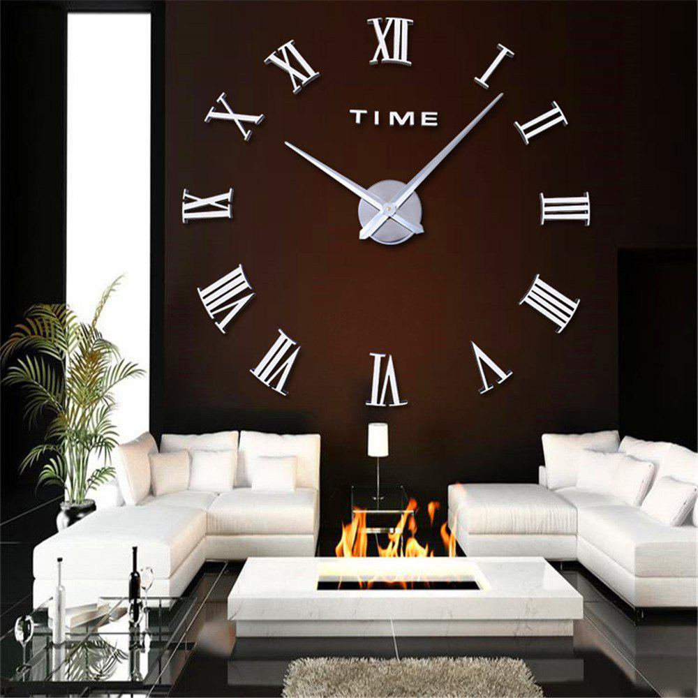 Simple Creative Fashion Wall Clock for Living Room - SILVER