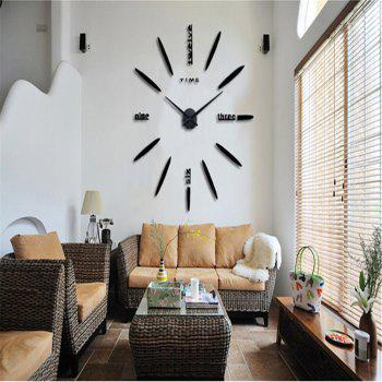 DIY  CreativeMute Wall Clock - BLACK