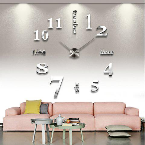 DIY Creative Fashion Watch Silent Wall Stickers - SILVER