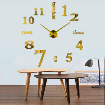 DIY Creative Fashion Watch Silent Wall Stickers - GOLD