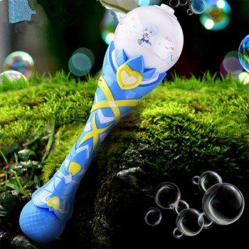 Electric Machine Automatic Bubble Water Gun Essential In Summer Outdoor Blowing Toy - AZURE