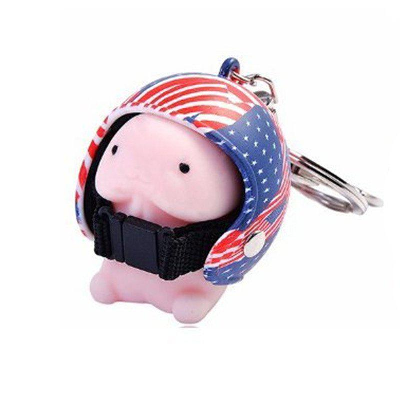 Jumbo Squishy Cartoon Boy with Helmet Cute Keychain Squeeze Stress Reliever Toy - multicolor A