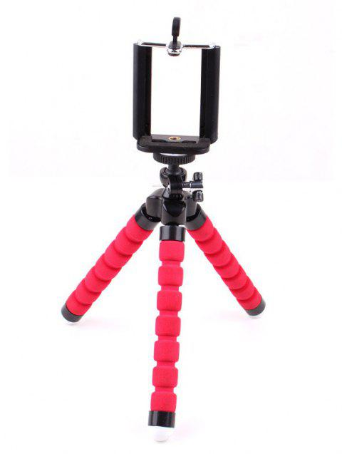 Nouveau support de support de poulpe flexible Mini Tripod - Rouge