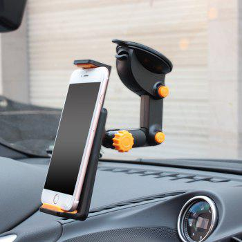 New 2-in-1 360 Degree Scalable Car Dashboard Sucker Mount Holder Stand for Smartphone Tablet PC - BLACK