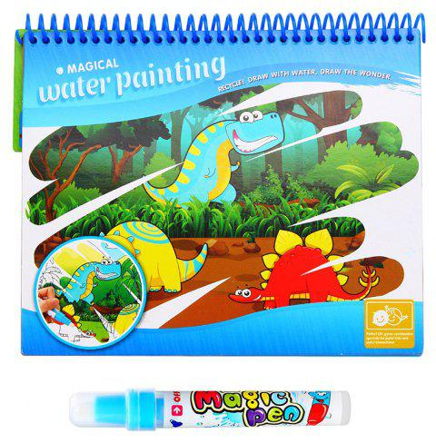 Magic Water Drawing   Doodle with  Pen Painting Board Coloring Book for Kids Toys - VALENTINE RED 1PC