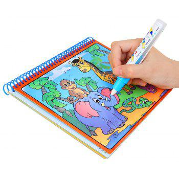 Magic Water Drawing   Doodle with  Pen Painting Board Coloring Book for Kids Toys - RED 1PC