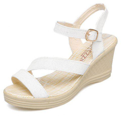 New Fashion Leisure  High Heel Women's Sandals - WHITE 37