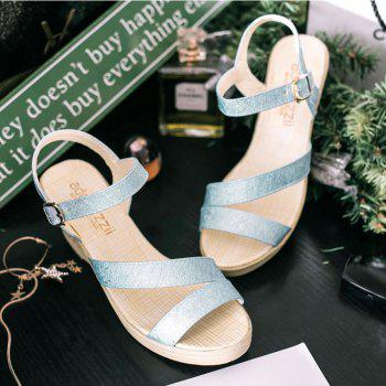 New Fashion Leisure  High Heel Women's Sandals - CYAN OR AQUA 36