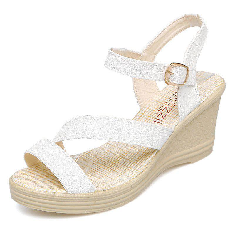 New Fashion Leisure  High Heel Women's Sandals - WHITE 38