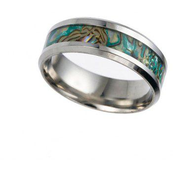 Punk Unique Stainless Steel Color Shell Ring Men Jewelry - BLUE GREEN US SIZE 9