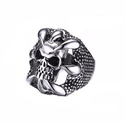Fashion Personality Skeleton Ring Men Gothic Domineering Accessories - BLACK US SIZE 9