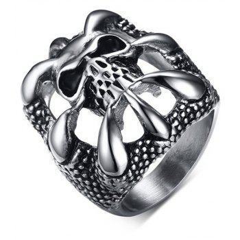 Fashion Personality Skeleton Ring Men Gothic Domineering Accessories - BLACK US SIZE 10