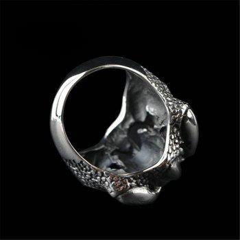 Fashion Personality Skeleton Ring Men Gothic Domineering Accessories - BLACK US SIZE 11