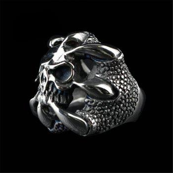 Fashion Personality Skeleton Ring Men Gothic Domineering Accessories - BLACK US SIZE 12