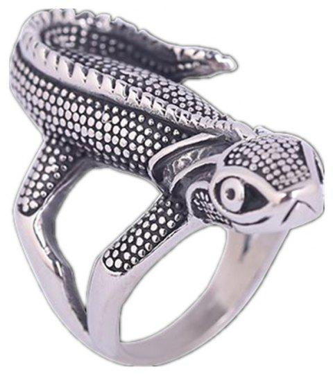 Titanium Steel Animal Animal Lizard Ring Hommes - Gris US SIZE 9