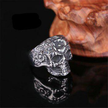 Titanium Steel Fashion Personality Rose Mantis Ring Man Woman - GRAY US SIZE 11