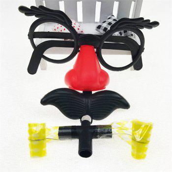 New Large Beard Glasses Funny Toys - multicolor A