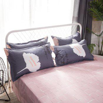 South Cloud 4 Pcs Housse de Couette Ensemble Ginkgo Feuilles Motif Comfy Ductile Ensembles de Literie - [