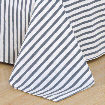 South Cloud 4 Pcs Literie Couverture Ensemble Simple Solide Motif Géométrique Ductile Drap - [