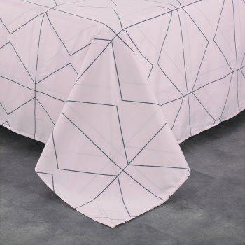 South Cloud 4 Pcs Bedding Cover Set Simple Solid Geometric Pattern - MARBLE BLUE KING