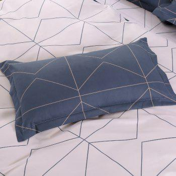 South Cloud 4 Pcs Bedding Cover Set Simple Solid Geometric Pattern - MARBLE BLUE FULL