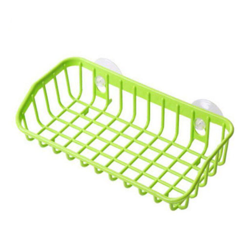 Double Suction Kitchen Rack Sponge Tableware Storage Rack - ALIEN GREEN S