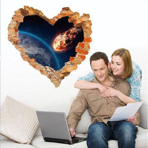 3D Wall Sticker Sky Ground Building Beautiful Landscape Decoration  XQ040126 - multicolor 1PC