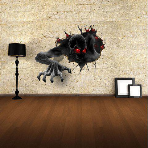 3D Wall Sticker Sky Ground Building Beautiful Landscape Decoration XQ010009 - multicolor 1PC
