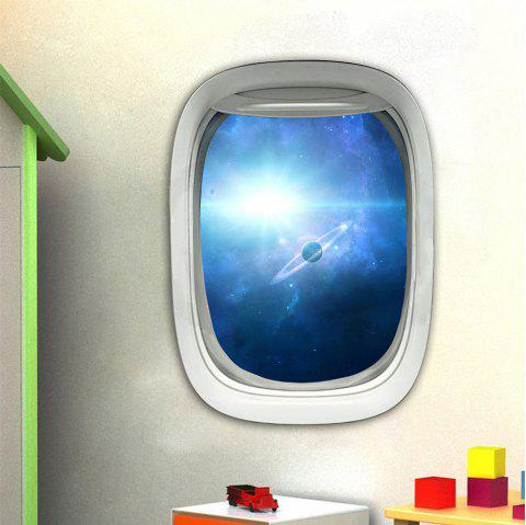 3D Wall Sticker Sky Ground Building Beautiful Landscape Decoration XQ030012 - multicolor 1PC